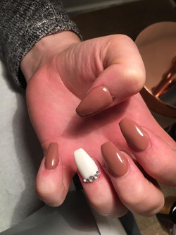 Acrylic nails with Gellux