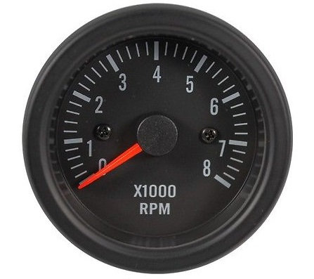 TACHOMETER Black Face