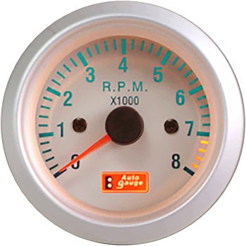 TACHOMETER White Face
