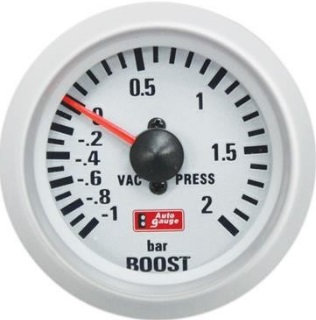 BOOST White Face Gauge