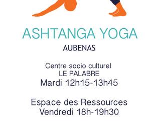 Rentrée du Yoga Ashtanga à Aubenas: mardi 17 septembre!!!