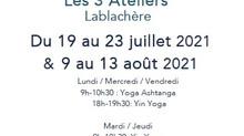 Yoga matin et soir aux 3 Ateliers la semaine du 19 juillet