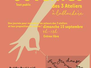 Journée Portes ouvertes aux 3 Ateliers dimanche 15 septembre prochain!