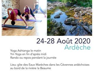 Yoga et Randonnée en Ardèche du 24 au 28 août : COMPLET ;-)