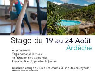 Stage résidentiel Yoga et Rando du 19 au 24 août 2018!