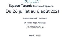 Yoga matin et soir à Rocles en juillet et août 2021