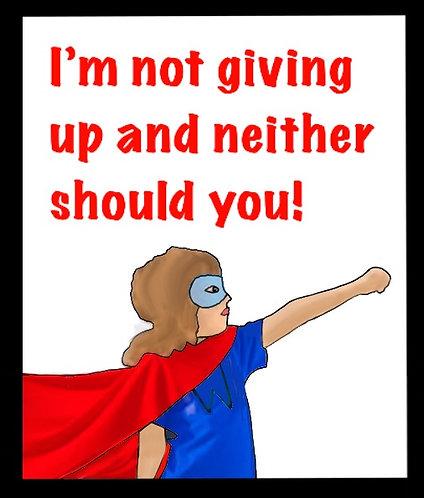 Girl Superhero Not Giving Up
