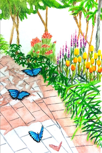 Blue Butterflies in Conservatory