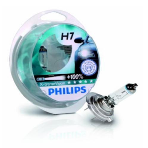 PHILLIPS 100% BRIGHTER H7 BULB SET