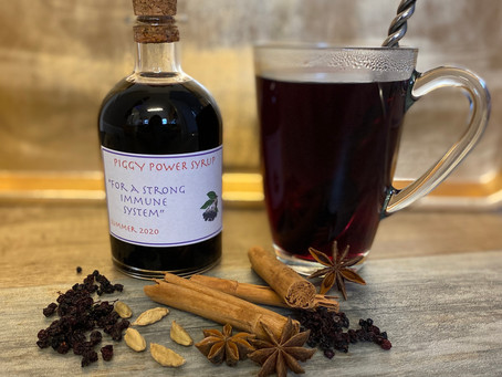 Spiced Elderberry Syrup (also known as Piggy Power Juice!)