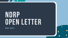 Open letter: NDRP Update May