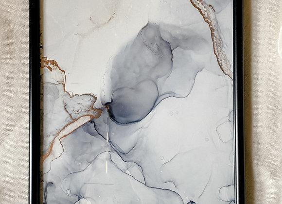 Einzigartiges Bild 21x30 mit Bilderrahmen, altrose, handmade