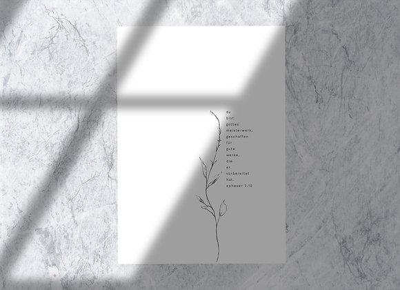 """""""Du bist Gottes Meisterwerk"""" hochwertige Karte sehr edel A6"""