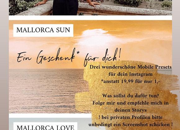 Drei Mobile Mallorca Presets. Mit einem Code für 1€!