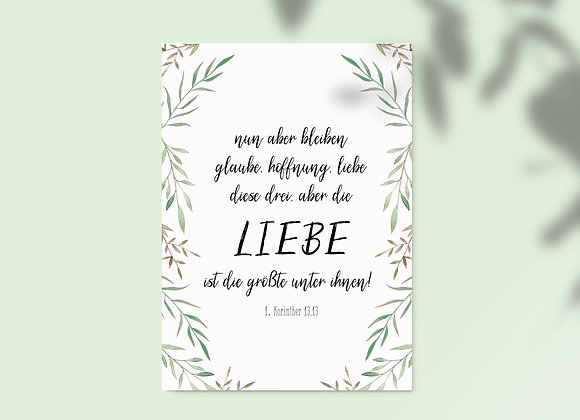 """Glaube, Hoffnung, Liebe"" A6"