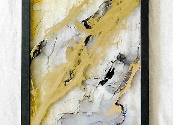 Einzigartiges Bild 30x36 mit Bilderrahmen, gold, GLAS handmade