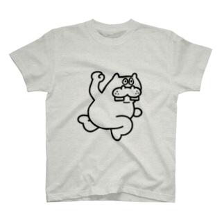 カバパンチラインTシャツ