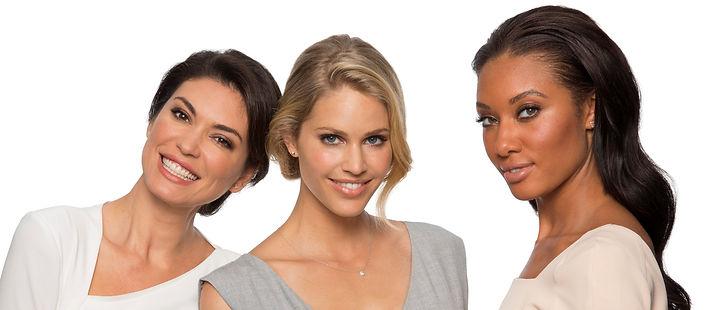 Beautiful women smiling about Botox