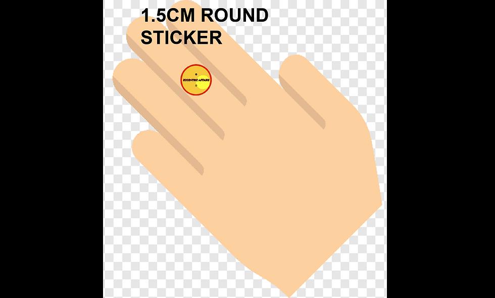 15mm (1.5cm) Round Stickers (425pcs per sheet)
