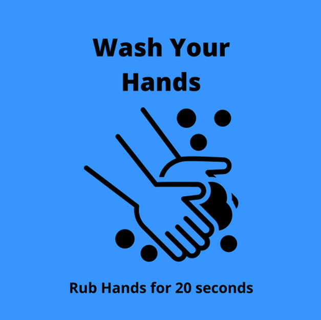 Wash Hand Square Sign