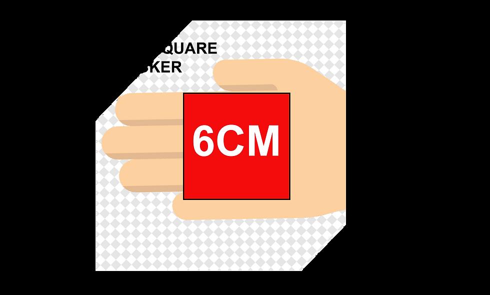 60mm (6cm) Square Stickers