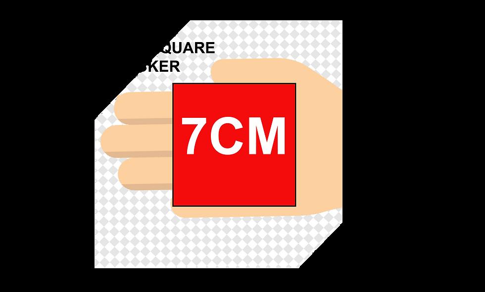 70mm (7cm) SQUARE Stickers (24pcs per sheet)