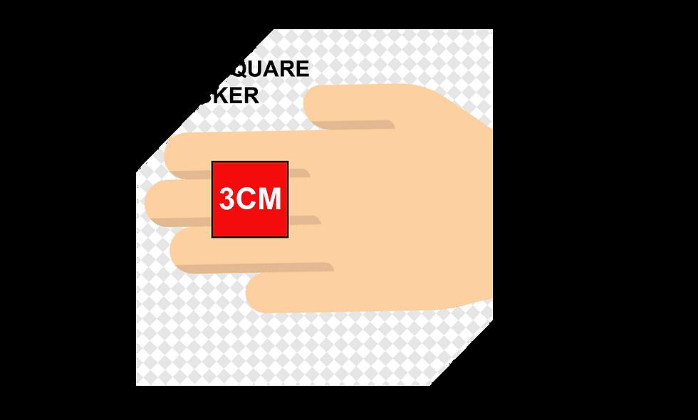 30mm (3cm) Square Stickers