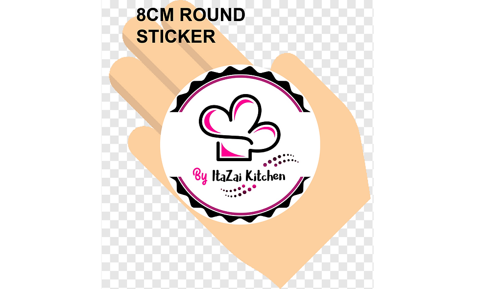 80mm (8cm) Round Stickers (15pcs per sheet)