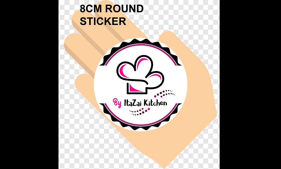 80mm (8cm) Round Stickers