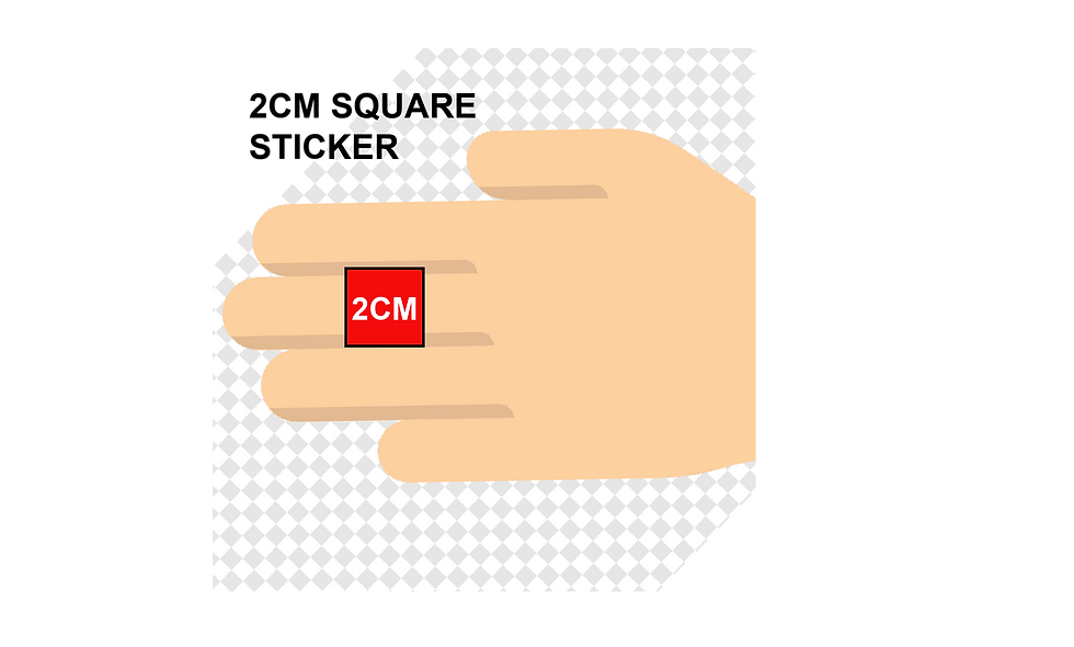 20mm (2cm) Square Stickers