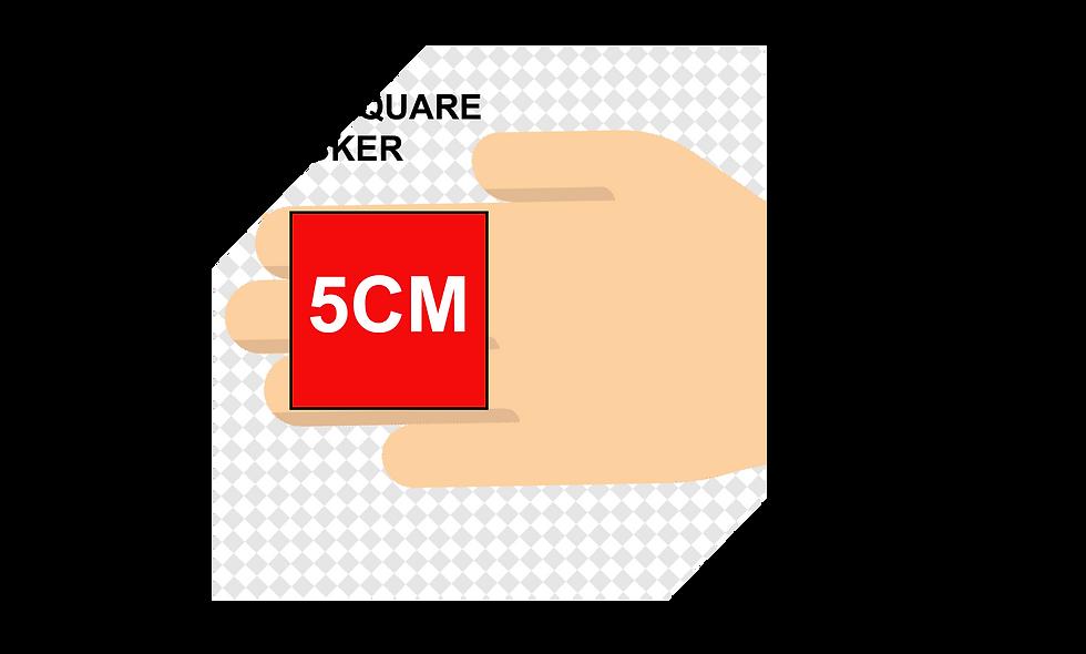 50mm (5cm) Square Stickers