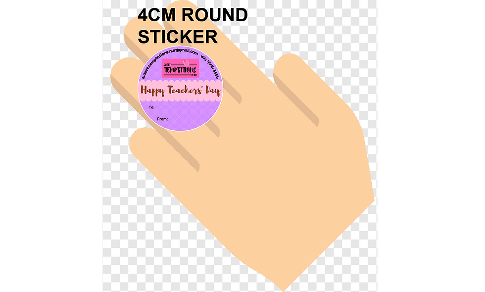 40mm (4cm) Round Stickers (70pcs per sheet)