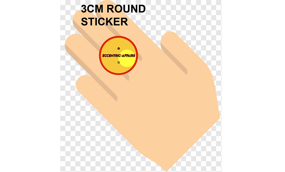 30mm (3cm) Round Stickers (117pcs per sheet)