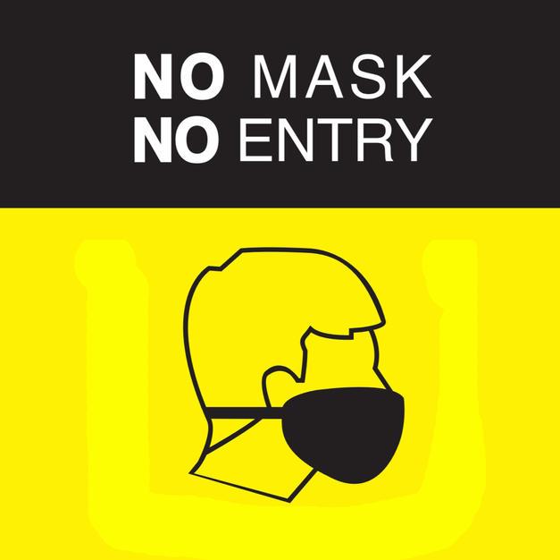 No Mask No Entry Square Sign