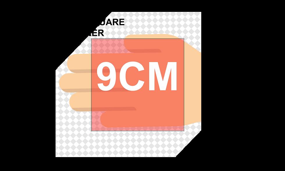 90mm (9cm) Square Stickers