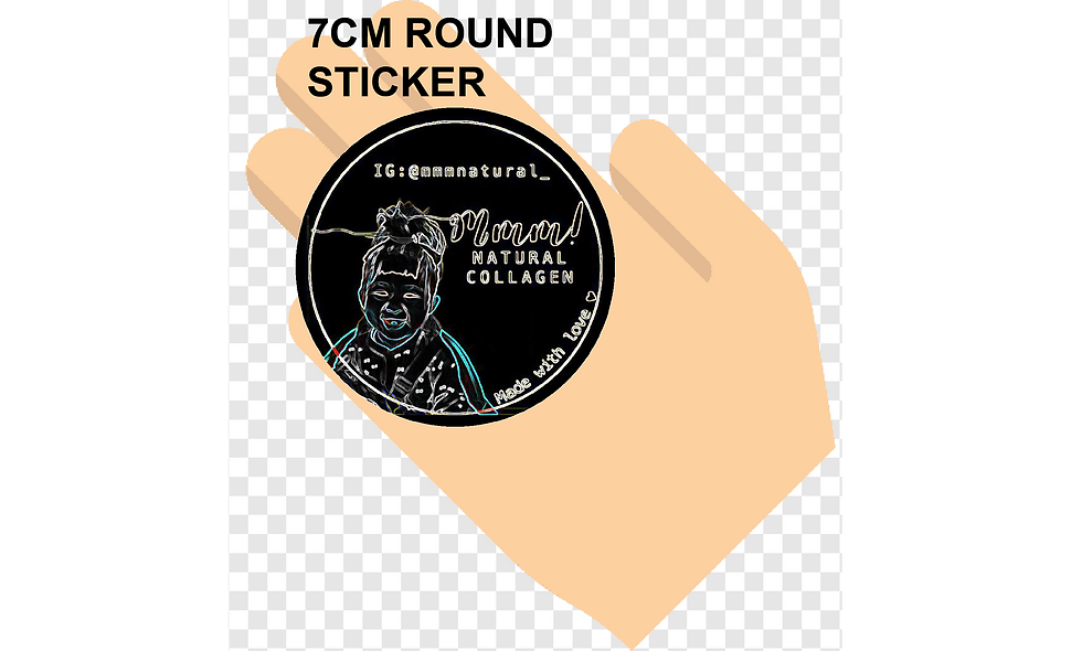 70mm (7cm) Round Stickers (20pcs per sheet)