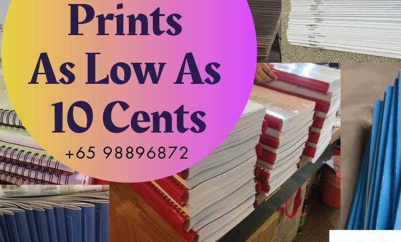 Colour Document Prints ONE SIDE