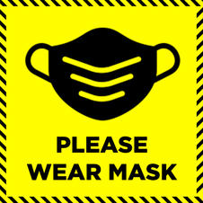 Please Wear Mask Square Sign