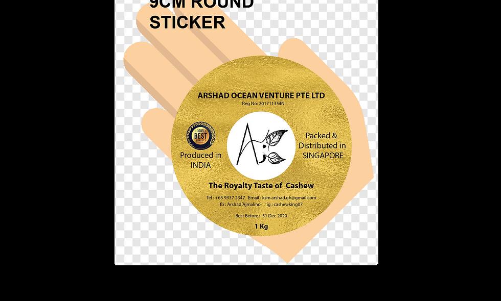 90mm (9cm) Round Stickers (12pcs per sheet)