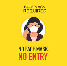 Face Mask Required Square Sign