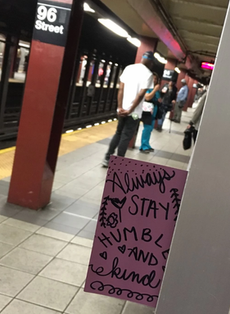 Leave inspiration notes in public places