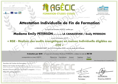 FORMATION AUDIT RGE Expert - EMILY B PET