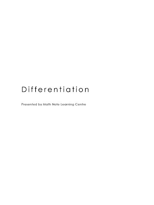 A Math Differentiation