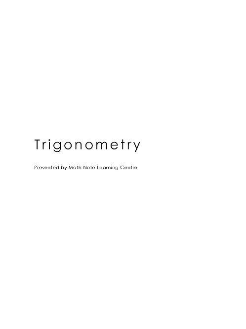 Trigonometry Notes (A Math)