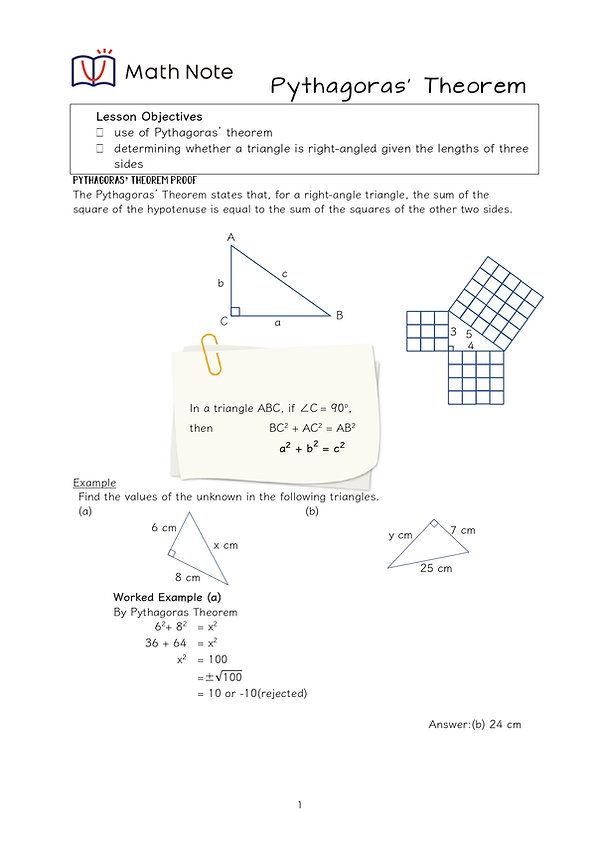 S2 Pythagoras Theorem Notes _page-0001.j