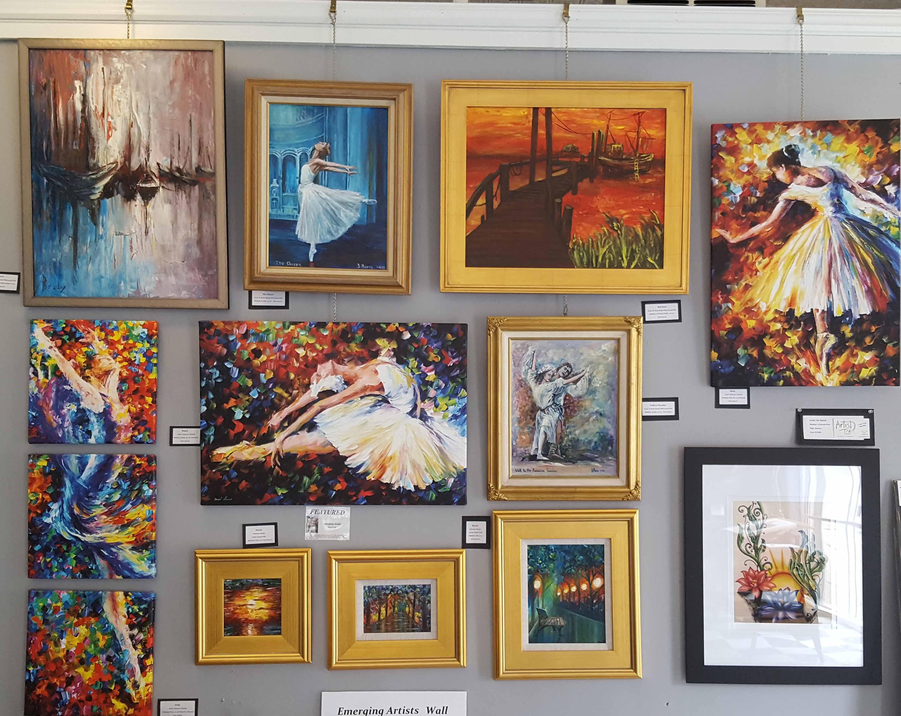 Emerging Artists Wall