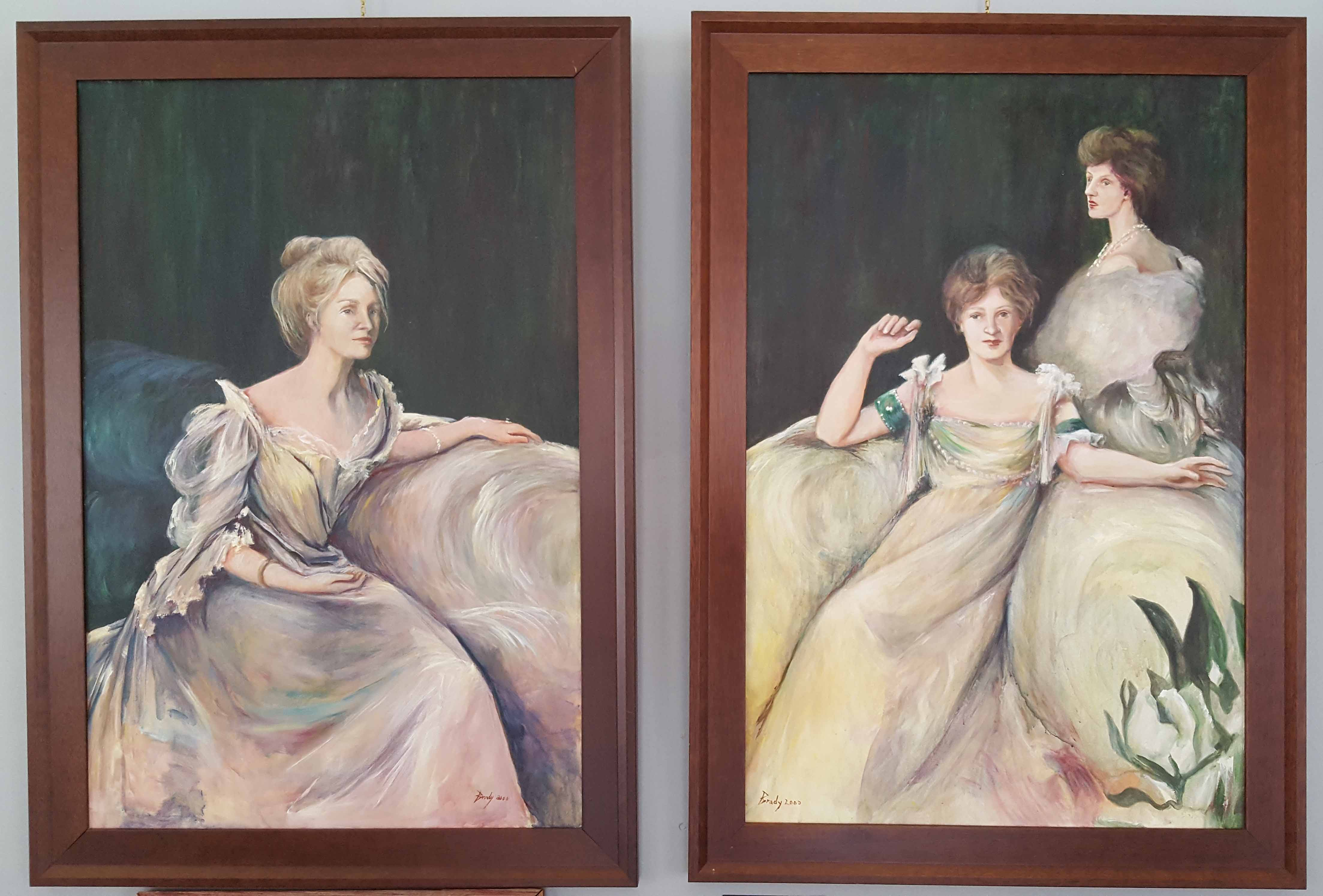 The Hadley Sisters diptych