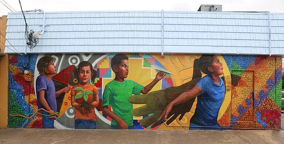 Dreaming Forward mural 2018 Alex Paul Lo