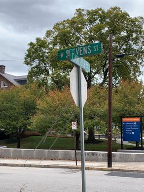 Stevens street sign