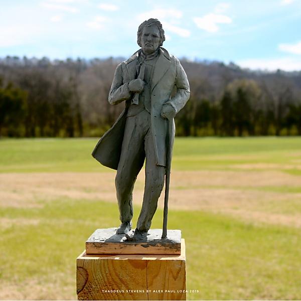 Thaddeus Stevens Monument maquette - fro